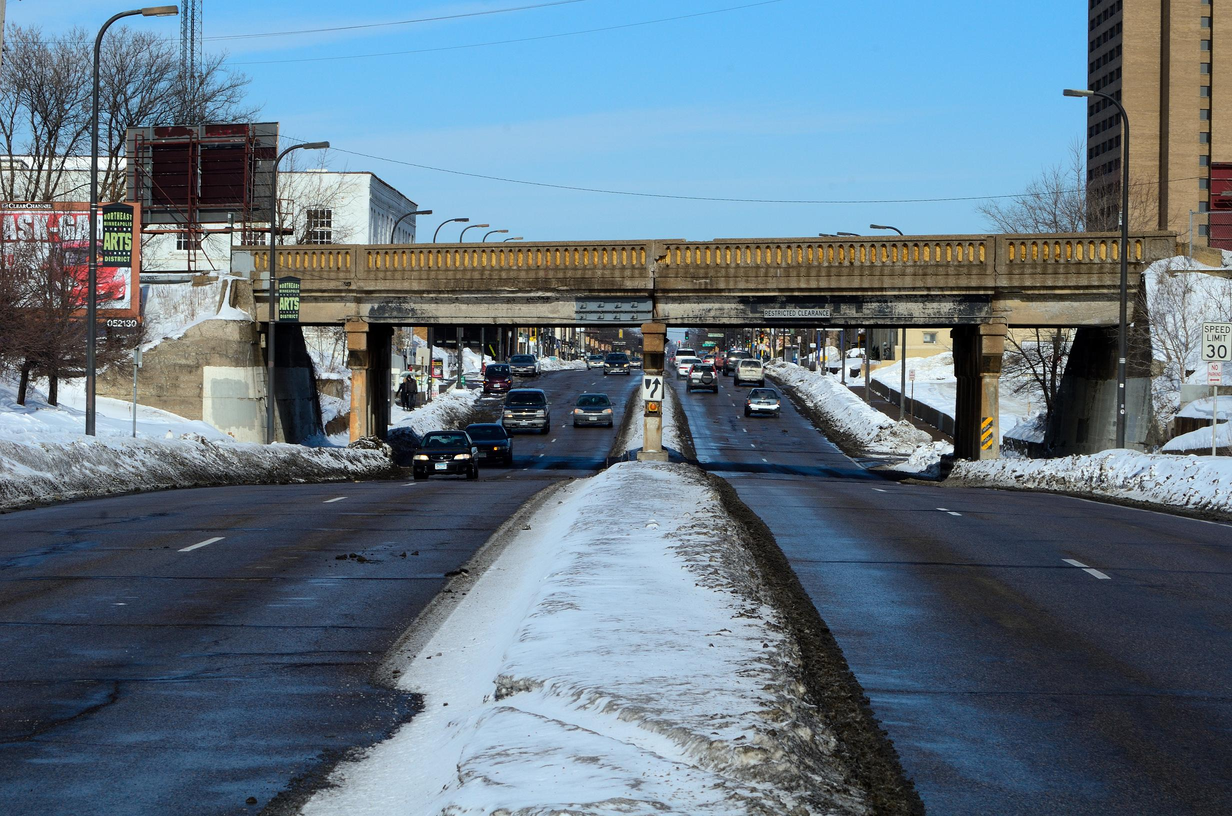 Old bridge during daytime, winter