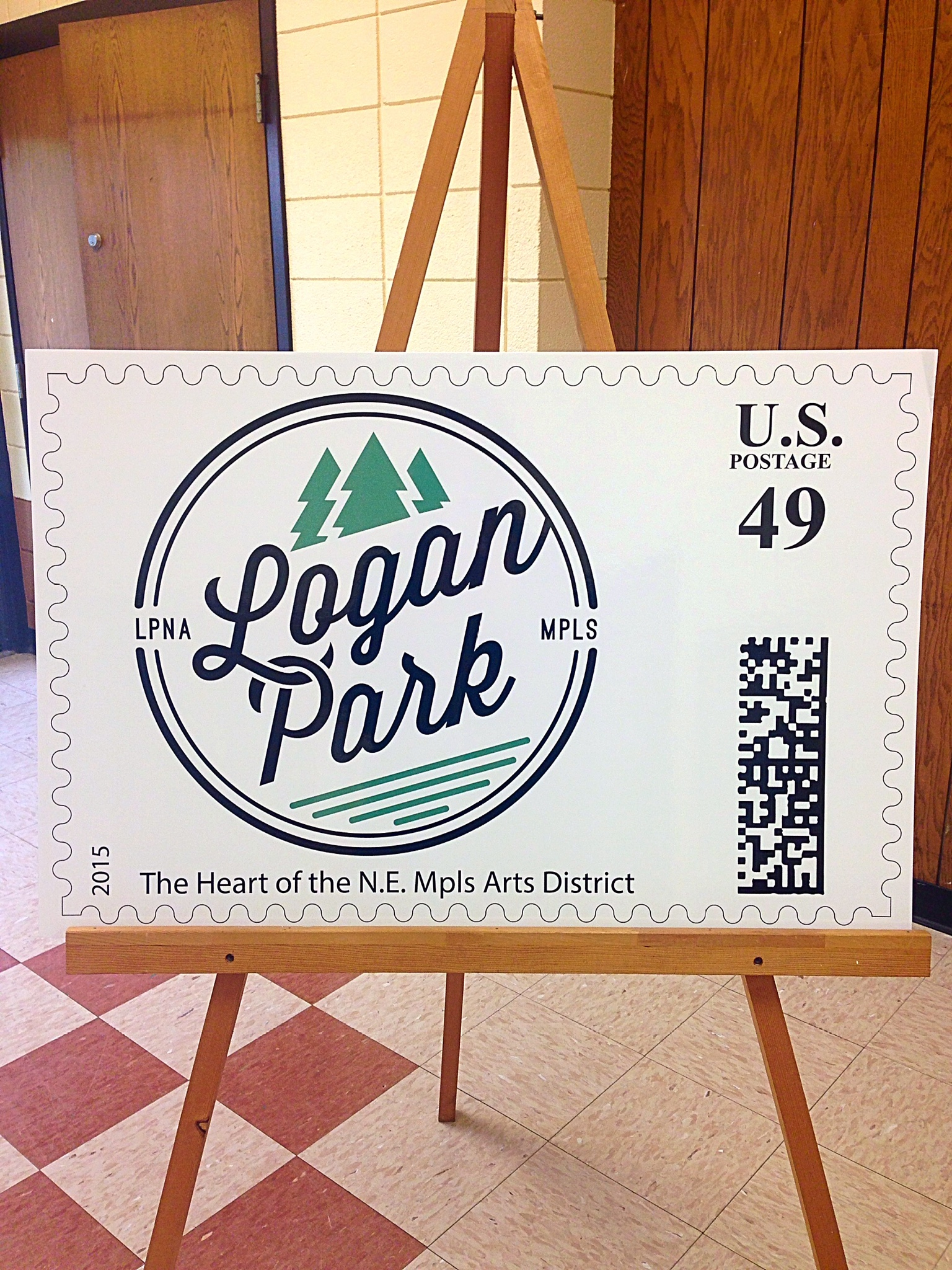 Logan Park logo stamp with Art-a-Whirl