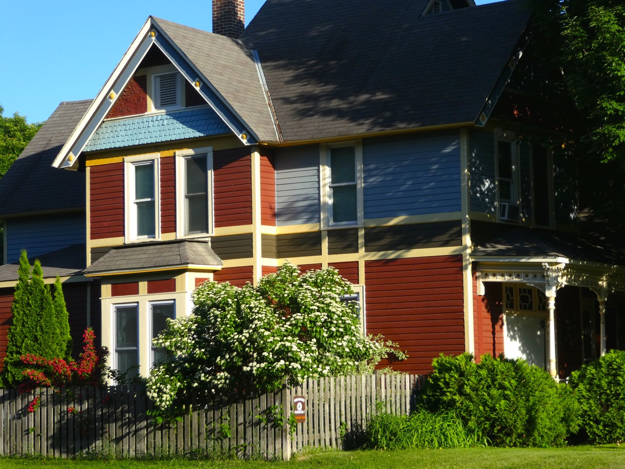 A multicolored home with elaborate siding in the Logan Park neighborhood