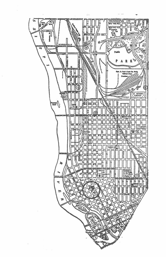 Historic map of the Logan Park neighborhood