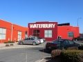 Waterbury building exterior and parking lot