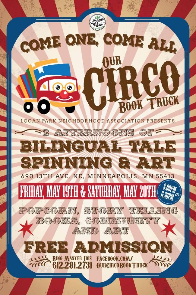 Poster: Circo Book Truck, May 2017