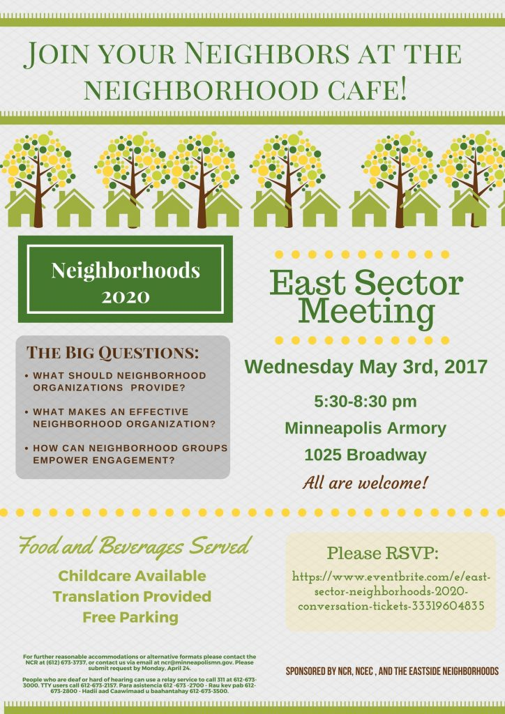 Poster: East Sector Meeting, May 2017