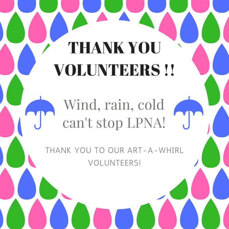 Poster: Thank you Art-a-Whirl Volunteers