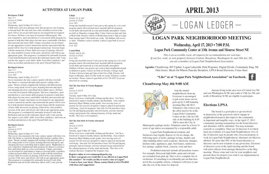 Logan Park April