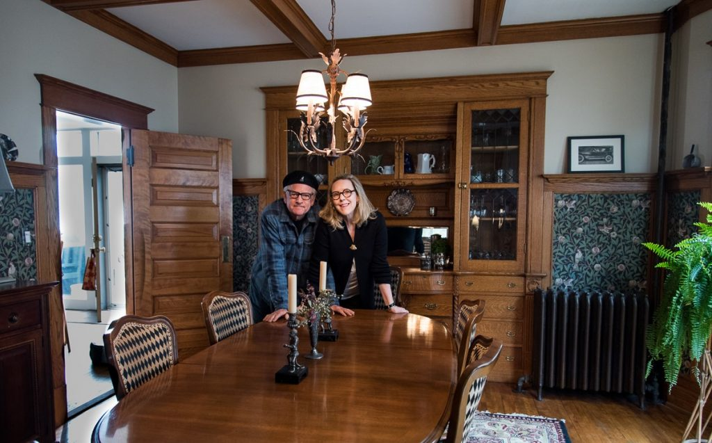 Peg and Al in their dining room at 1319 Adams
