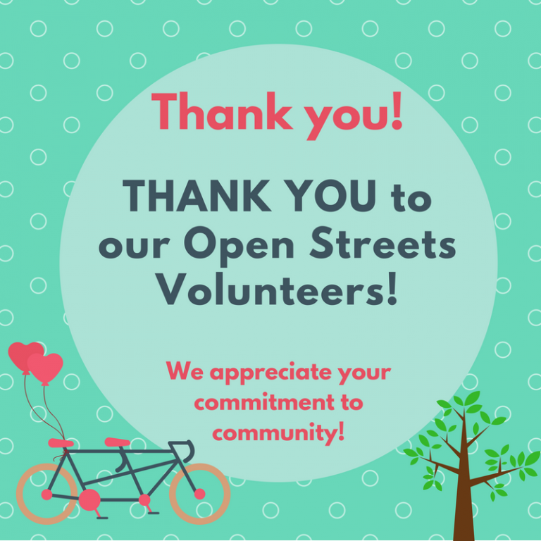 Thank you to our Open Streets Volunteers!