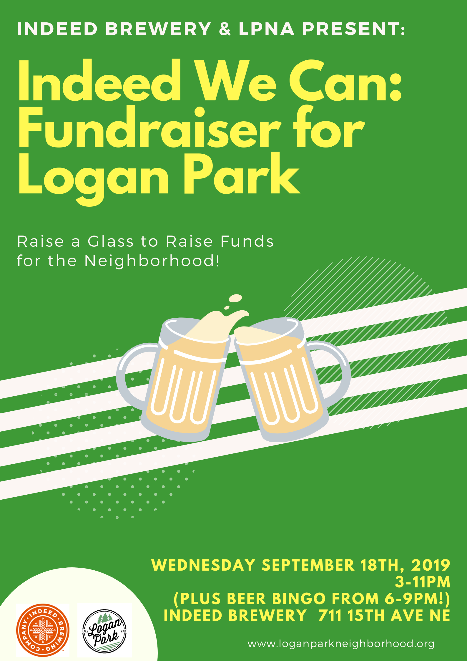 Indeed We Can Fundraiser September 18th, 2019