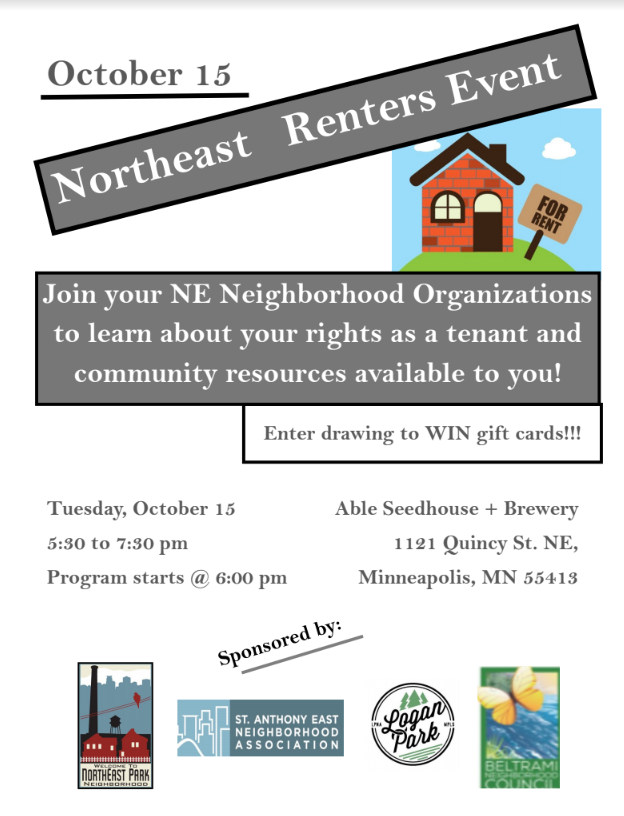 Renter's Rights Event Flyer