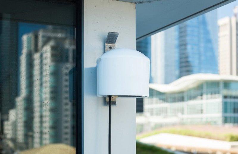 Purple air quality monitor