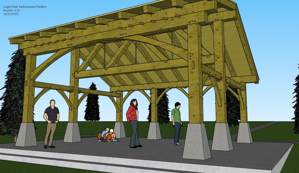 Rendering of the pavilion